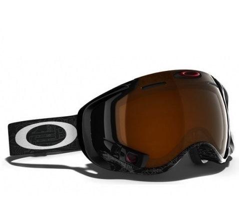 Oakley AIRWAVE 1.5 - ударопрочные горнолыжные спортивные очки (Black Iridium)