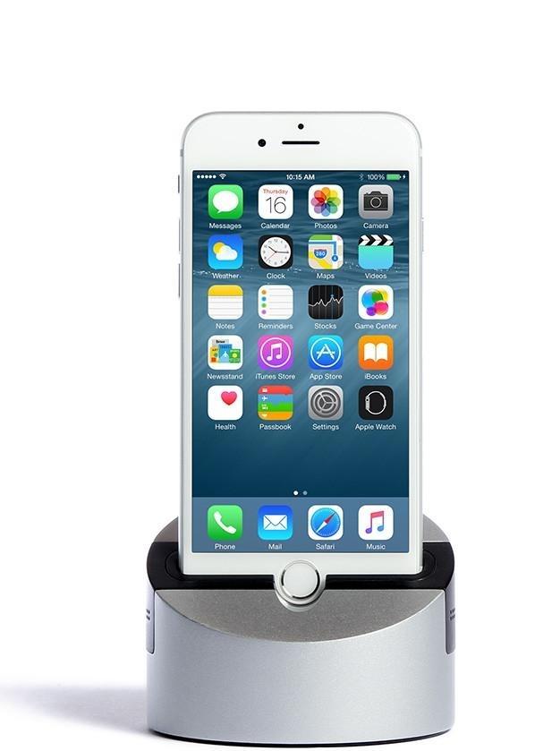 Док-станция Henge Docks Gravitas для iPhone/iPad с audio jack 3.5 (HDA02GRV-TAS) (версия 6 Plus/6s Plus/7 Plus/8 Plus/X/iPad)
