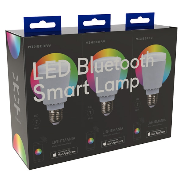 Комплект ламп MiXberry Smart lamp E27 7Вт 6000K (MSL 7RGB127*3)