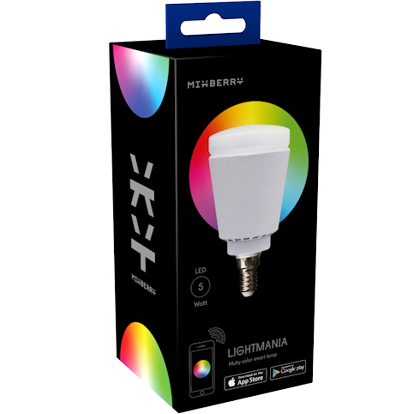 Лампа Mixberry Smart Lamp E14 5Вт 6000K (MSL 5RGB114)