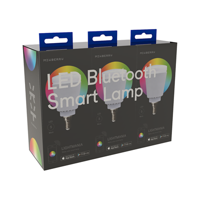 Комплект ламп Mixberry Smart Lamp E14 5Вт 6000K (MSL 5RGB114*3)