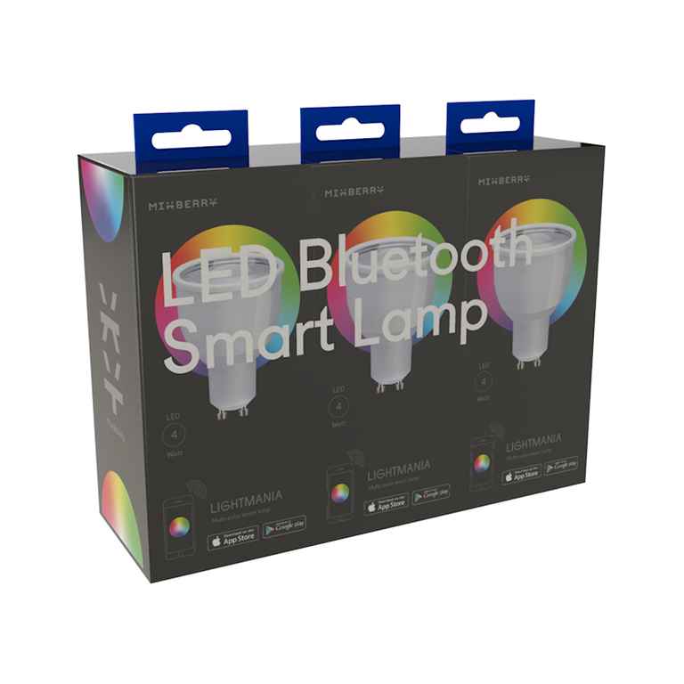 Комплект ламп Mixberry LED Bluetooth Smart Lamp, цоколь GU10 (MSL 5RGB110*3)