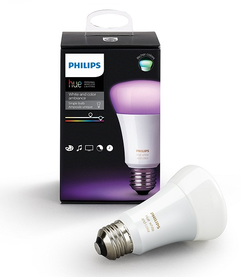 Умная лампа Philips Hue White and Color Ambiance E27