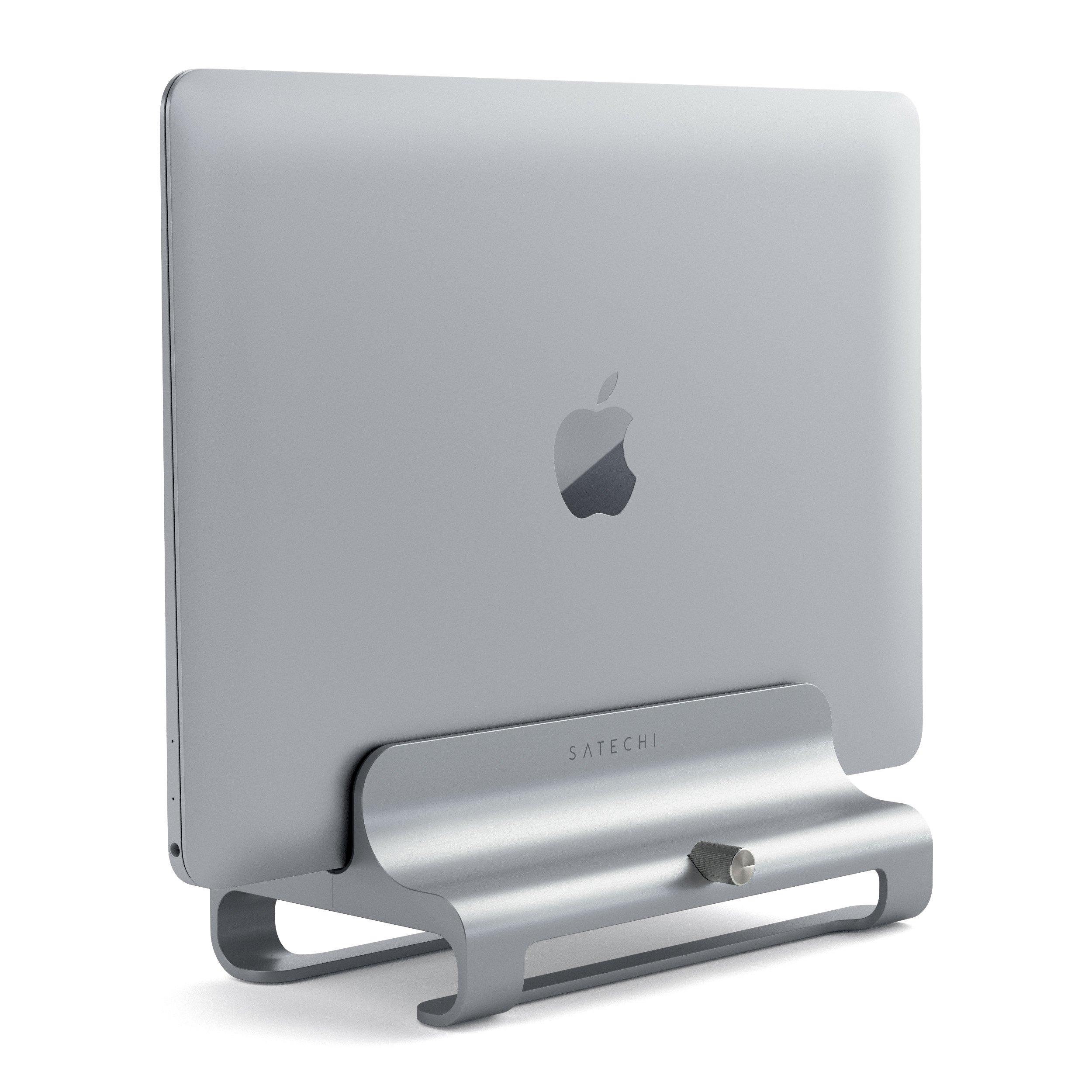 Алюминиевая вертикальная подставка Satechi Universal Vertical Aluminum Laptop Stand (ST-ALVLSS) для MacBook серебристый