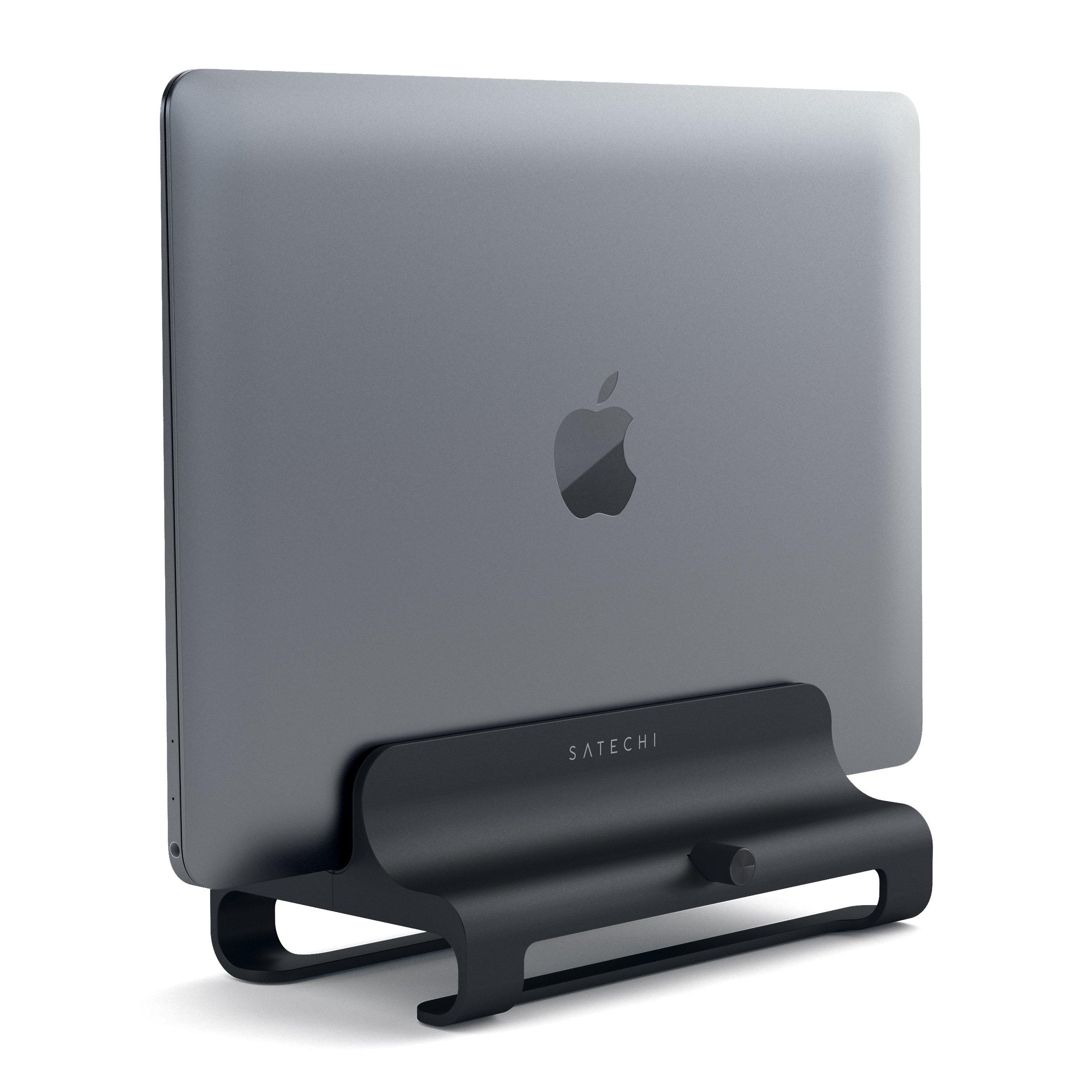 Алюминиевая вертикальная подставка Satechi Universal Vertical Aluminum Laptop Stand (ST-ALVLSK) для MacBook черный