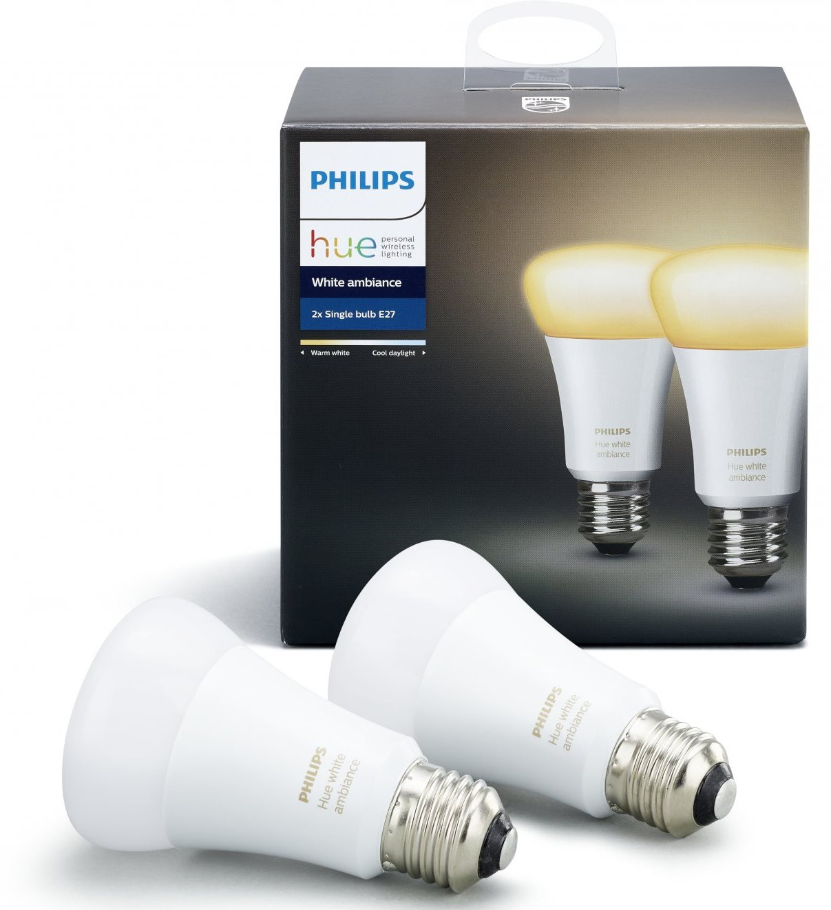 Умная лампа Philips Hue White Ambiance E27 (2 штуки)