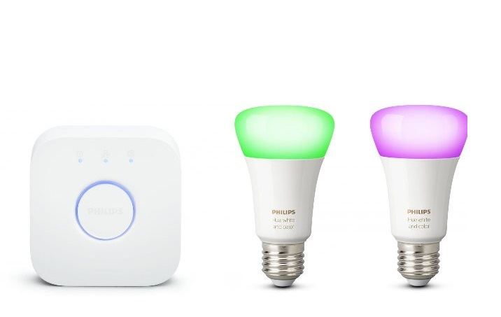 Комплект умных ламп Philips Hue White and Color ambiance Starter E27 (2 шт) и блок управления (929001257307)