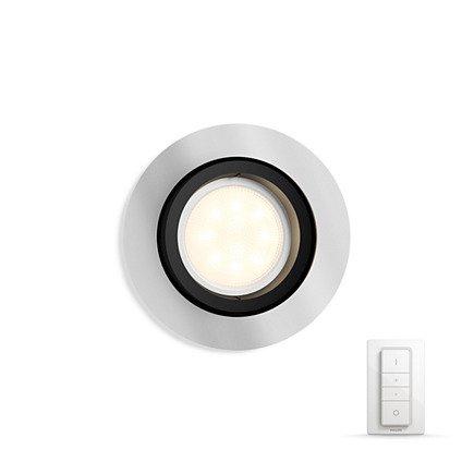 Встраиваемый светильник Philips Milliskin HUE Dimmer kit круглый черный (915005425201)