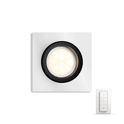 Встраиваемый светильник Philips Milliskin HUE Dimmer kit квадратный черный (915005425601)