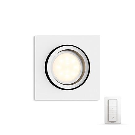 Встраиваемый светильник Philips Milliskin HUE Dimmer kit квадратный белый (915005425701)