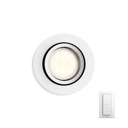 Встраиваемый светильник Philips Milliskin HUE Dimmer kit круглый белый (915005425301)