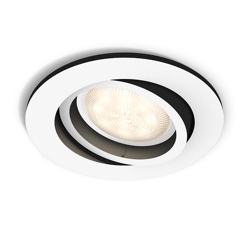 Встраиваемый светильник Philips Milliskin HUE круглый белый (915005425501)