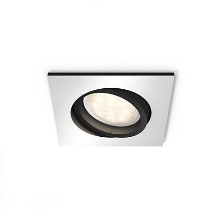 Встраиваемый светильник Philips Milliskin HUE квадратный черный (915005425801)