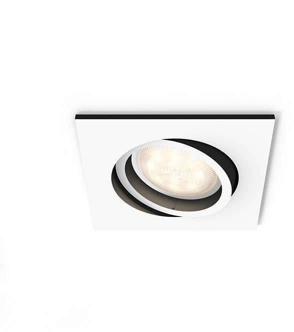 Встраиваемый светильник Philips Milliskin HUE квадратный белый ( 915005425901)